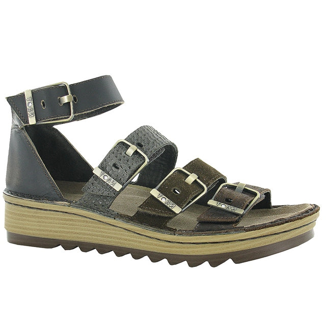 Begonia Sandal in Mine Brown Leather