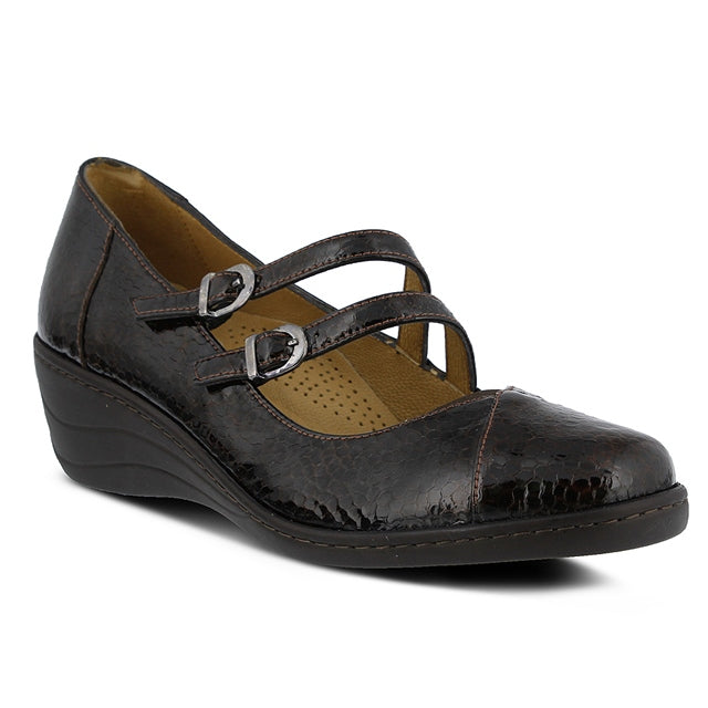Thorny Mary Jane in Brown Snake Patent Leather