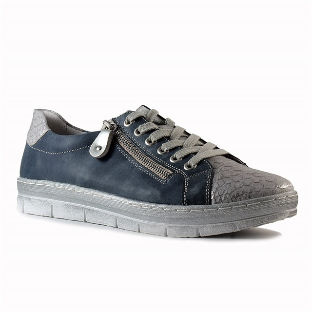 D5800-14 Sneaker in Jean/Silver Leather