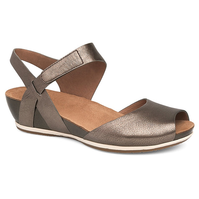 Vera Sandal in Pewter Nappa Leather