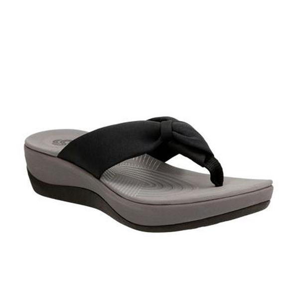 Arla Glison Sandal in Black Fabric