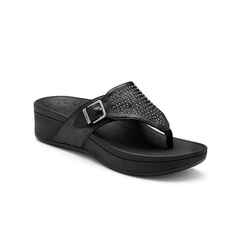 Capitola Sandal in Black Leather