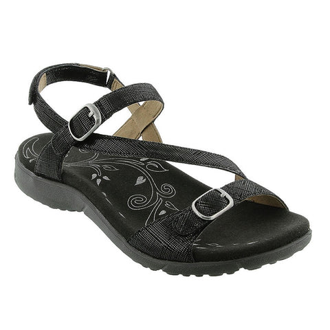 Beauty Sandal in Black Printed Leather