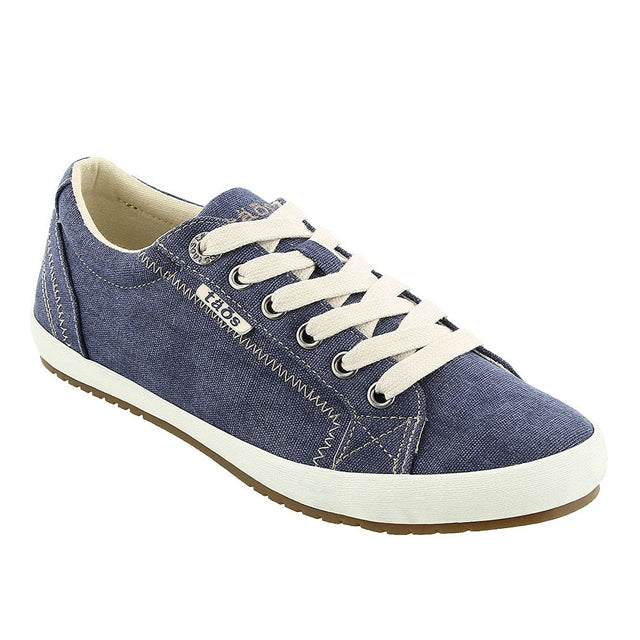 Star Lace Up in Blue Wash Canvas