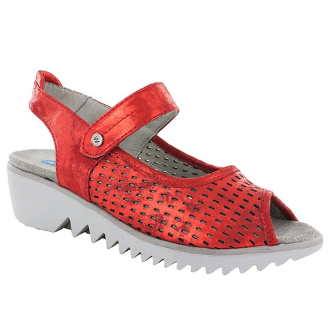 Blade Sandal in Red Amalia Nubuck