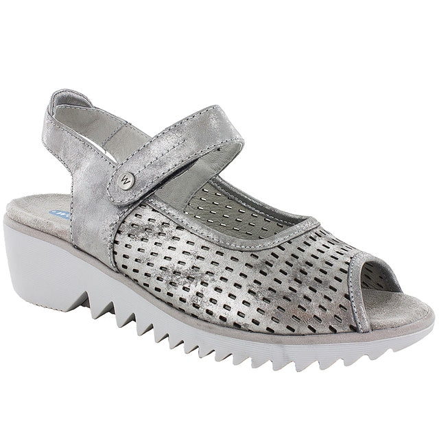 Blade Sandal in Light Gray Amalia Nubuck