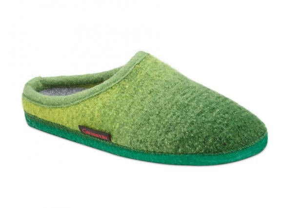 Alm House Shoe in Green Wool