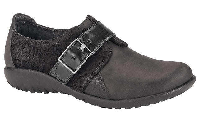 Tane Slip-On in Black Leather Nubuck