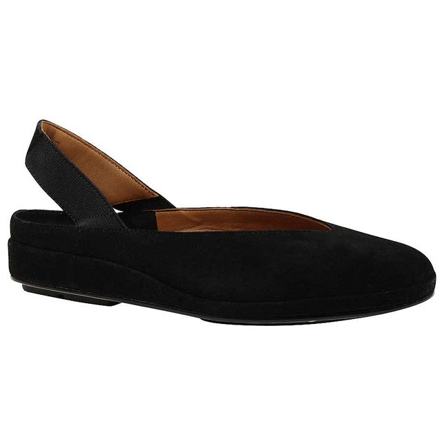 Cypris Flat in Black Suede