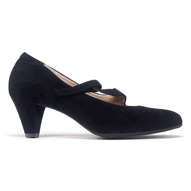 Rose Pump in Black Suede