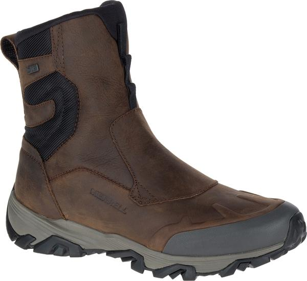 "Merrell ColdPack ICE+ 8"" Zip Waterproof Boot in Clay Nubuck at Mar-Lou Shoes"