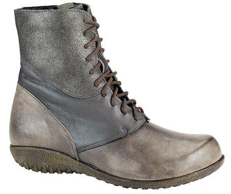 Atopa in Gray Leather Nubuuck