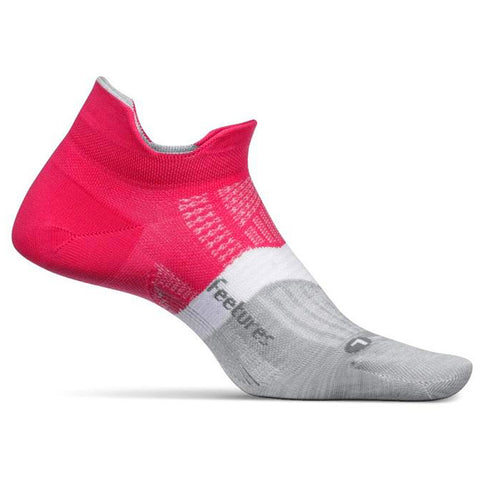 Feetures Elite Max Cushion No Show Tab Socks Magenta | Mar-Lou Shoes