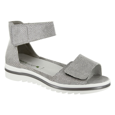 Waldlaufer Marigold Sandal in Silver Sila at Mar-Lou Shoes