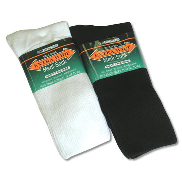 Extra Wide Sock Company Unisex Medical Extra Wide Sock White Size 8-11 | Mar-Lou Shoes