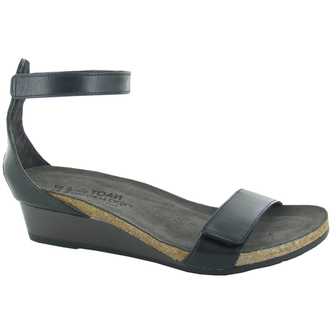 Naot Mermaid in Black Raven Leather at Mar-Lou Shoes