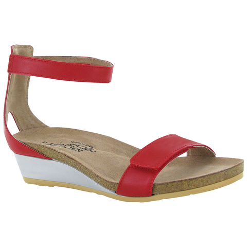 Naot Mermaid in Kiss Red Leather at Mar-Lou Shoes
