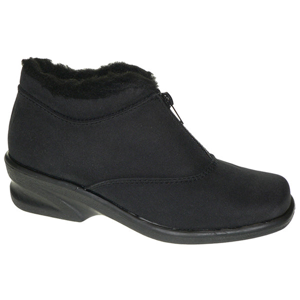 Toe Warmers Micha Waterproof Bootie in Black at Mar-Lou Shoes