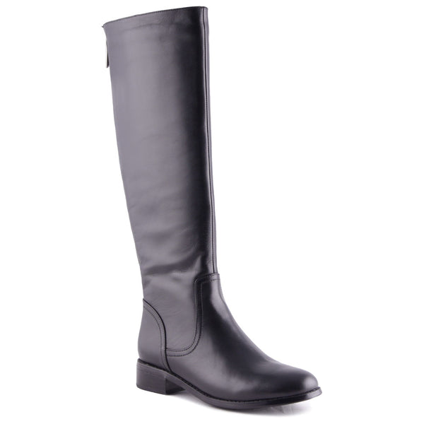 Montreal Waterproof Boots in Black Leather