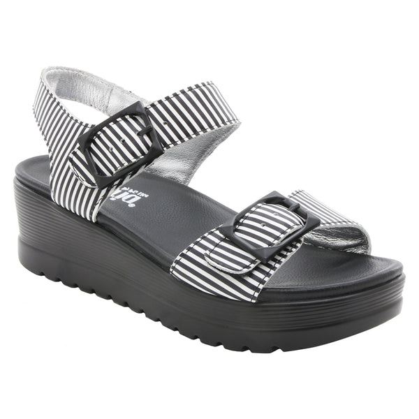 Alegria Morgyn Sandal in Stripes at Mar-Lou Shoes