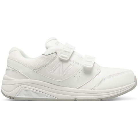 New Balance Women's Hook-and-Loop 928v3 in White Leather at Mar-Lou Shoes