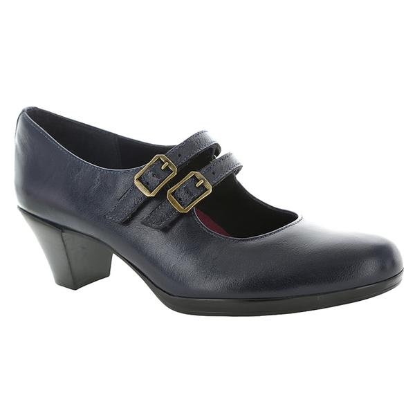 Alicia Mary Jane Pump in Navy Leather