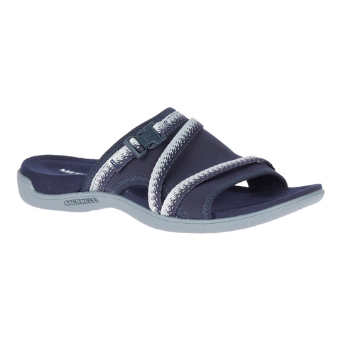 Merrell Women's District Muri Slide Sandal Navy/Grey | Mar-Lou Shoes