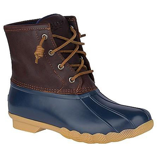 Saltwater Waterproof Duck Boots in Tan and Navy