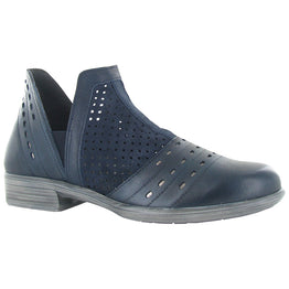 Naot Rivotra Bootie Perforated Navy Leather at Mar-Lou Shoes