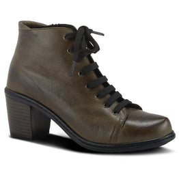Spring Step Women's Zelanie Bootie Olive Leather | Mar-Lou Shoes