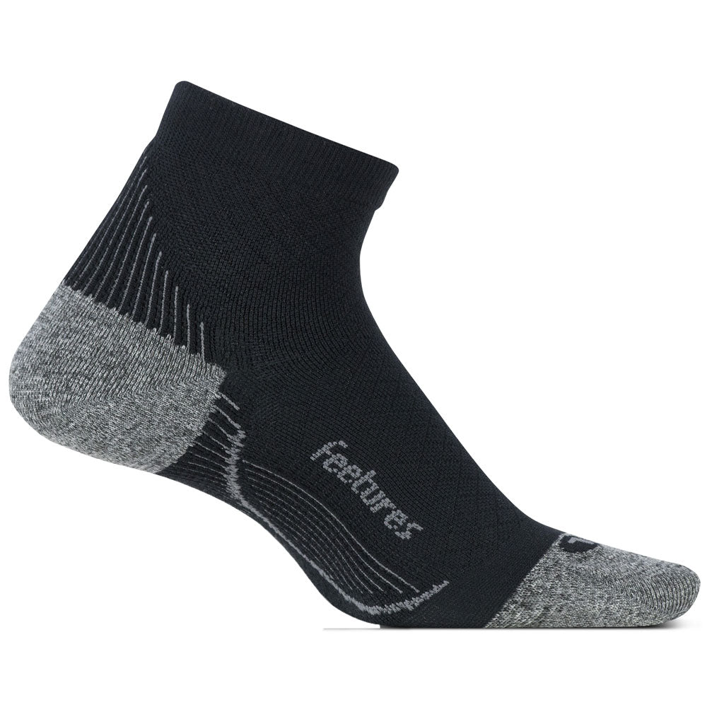 Plantar Fasciitis Relief Light Cusion Quarter Socks in Black