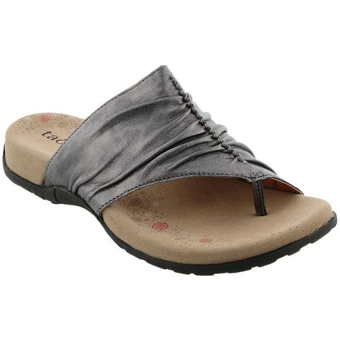 Taos Gift 2 Sandal in Pewter Leather at Mar-Lou Shoes