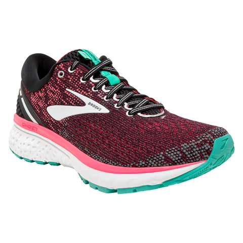 Women's Ghost 11 in Black/Pink/Aqua