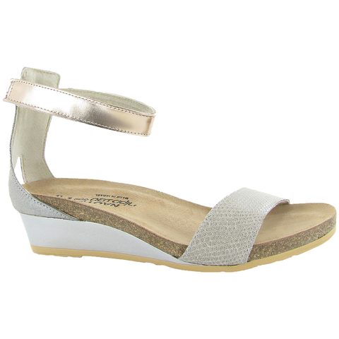 Naot Pixie Sandal in Beige Leather at Mar-Lou Shoes