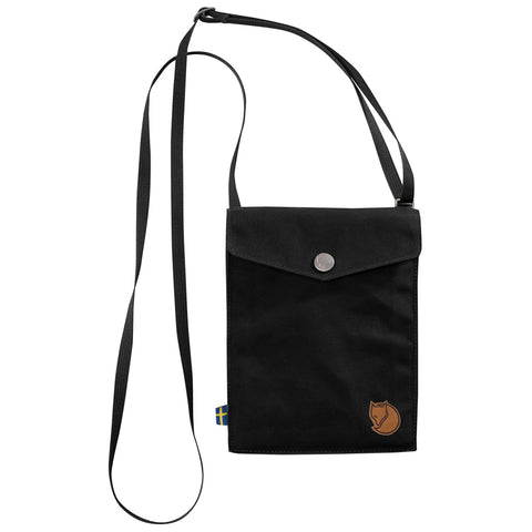 Fjällräven Unisex Pocket Sized Shoulder Bag Black | Mar-Lou Shoes