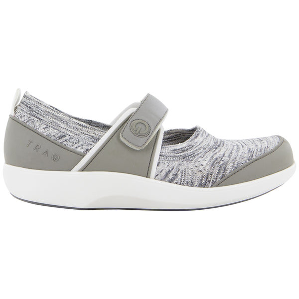 Alegria TRAQ Qutie in Soft Grey at Mar-Lou Shoes