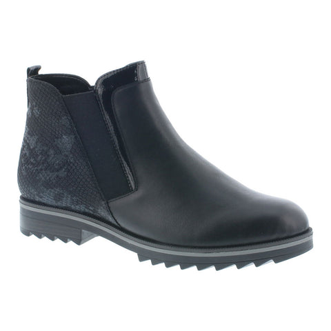 R2280-01 Crista Boot in Black Leather
