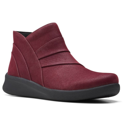 Clarks Sillian 2.0 Rise Bottie Burgundy at Mar-Lou Shoes