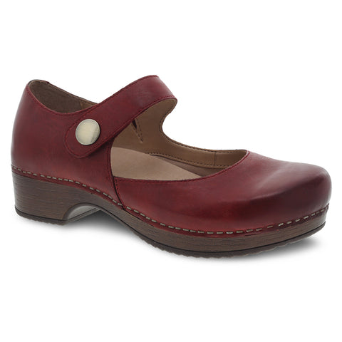 Dansko Beatrice Mary Jane Red Leather at Mar-Lou Shoes