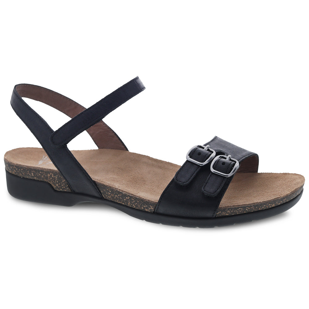 Dansko Rebekah Sandal in Black Leather at Mar-Lou Shoes