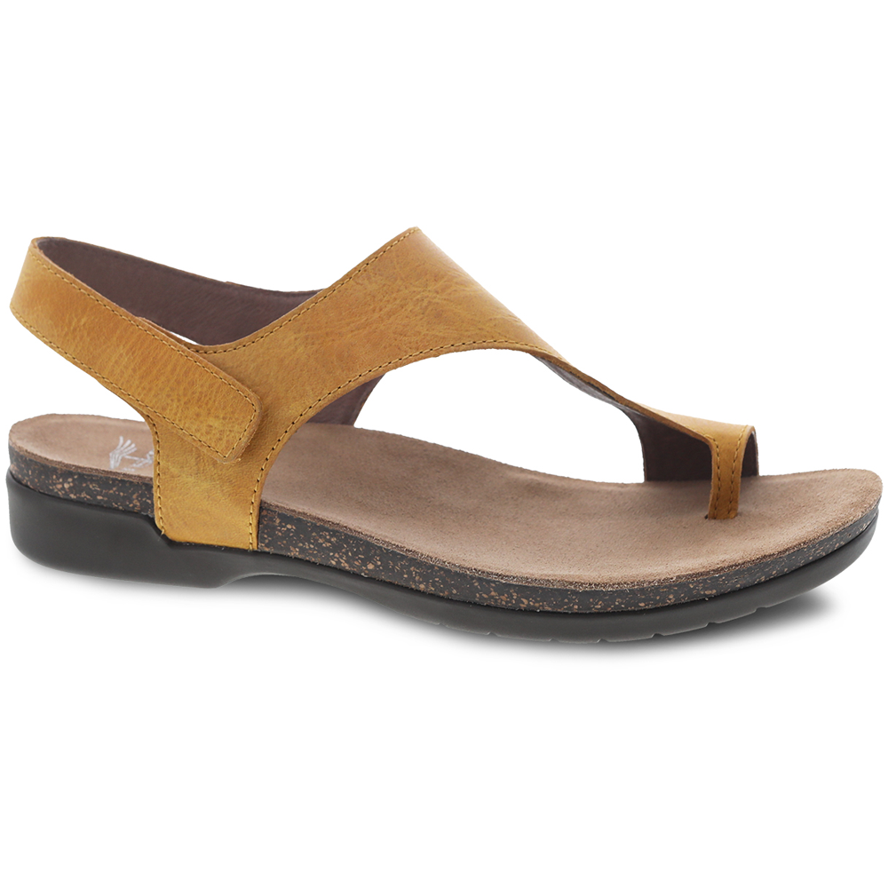 Dansko Reece in Mango Waxy Leather at Mar-Lou Shoes