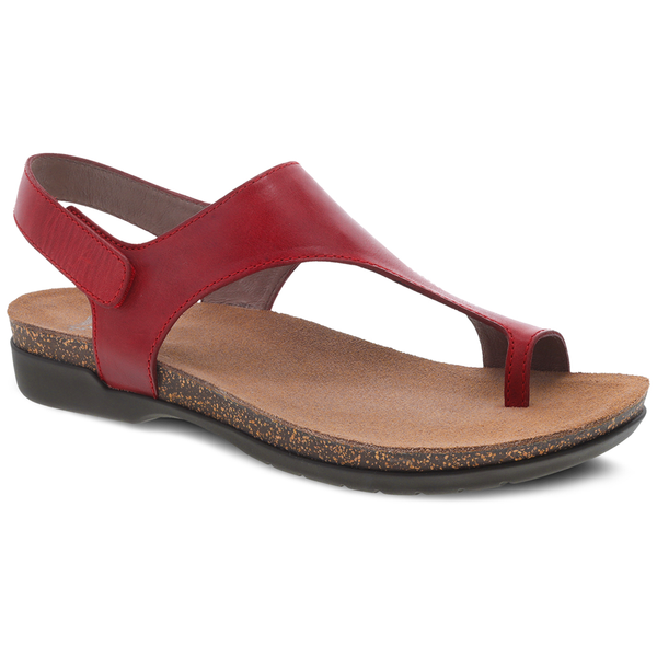 Dansko Reece in Red Waxy Leather at Mar-Lou Shoes