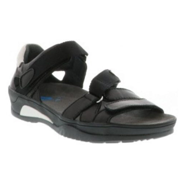 Wolky Ripple Sandal in Black Leather at Mar-Lou Shoes