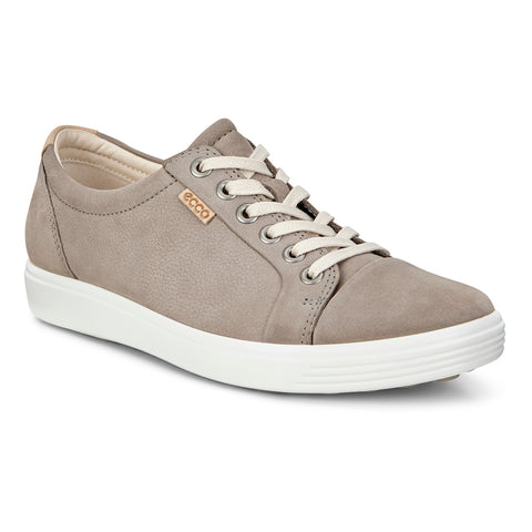 Ecco Women's Soft 7 Lace Grey Nubuck at Mar-Lou Shoes