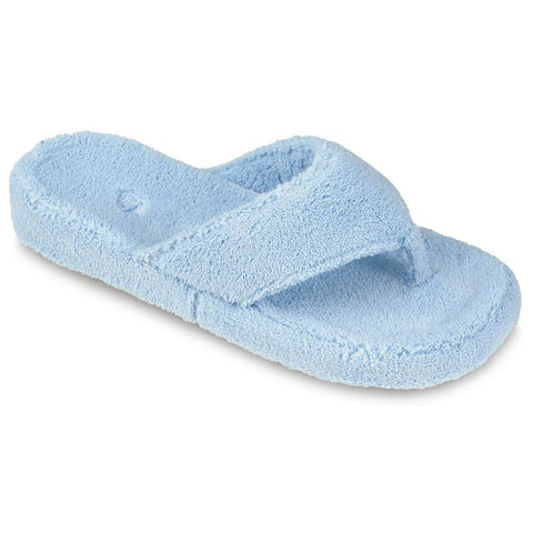 Women's Spa Thong Slippers Powder Blue | Mar-Lou Shoes