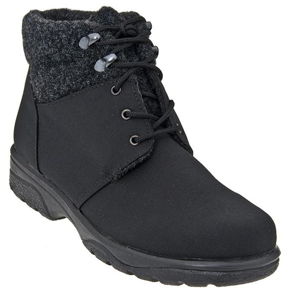 Toe Warmers Trek Waterproof Ankle Boot in Black at Mar-Lou Shoes