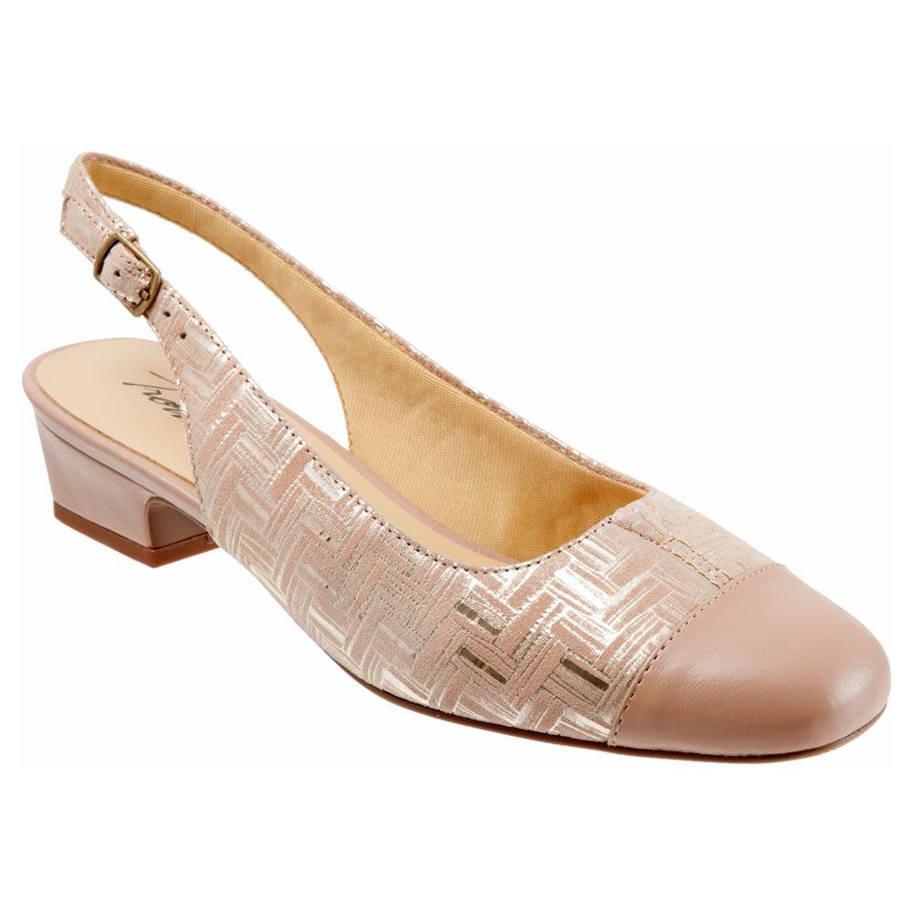 Dea in Blush Woven Leather