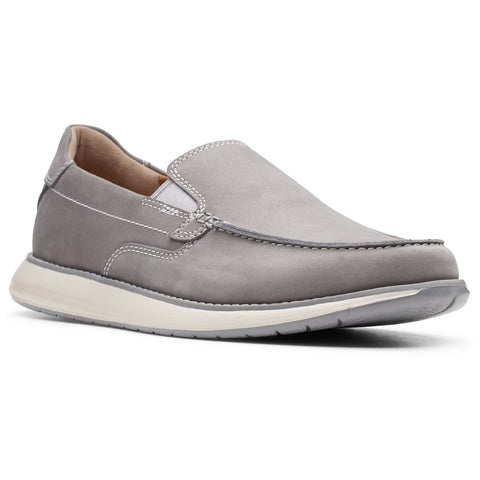 Clarks Un Pilot Step in Grey Nubuck at Mar-Lou Shoes