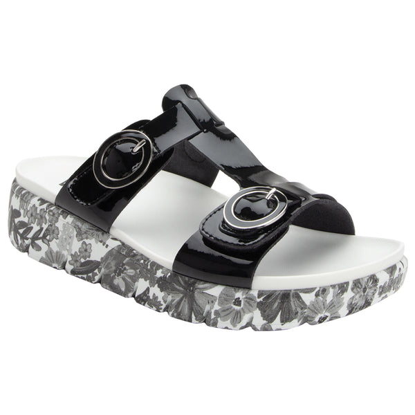 Alegria Vita Sandal in Oasis Black at Mar-Lou Shoes