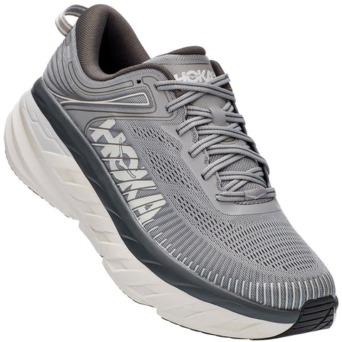 Hoka Men's Bondi 7 Wild Dove/Dark Shadow at Mar-Lou Shoes